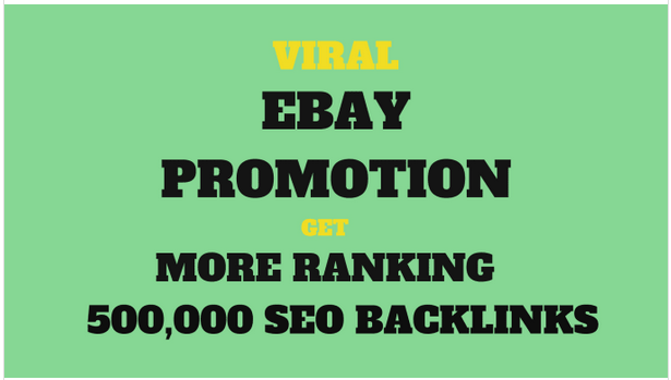 Do ebay promotion for better sales