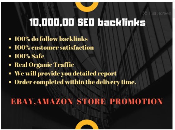 do 10,000, 00 SEO backlinks for ebay,  amazon store promotion for better sales and traffic