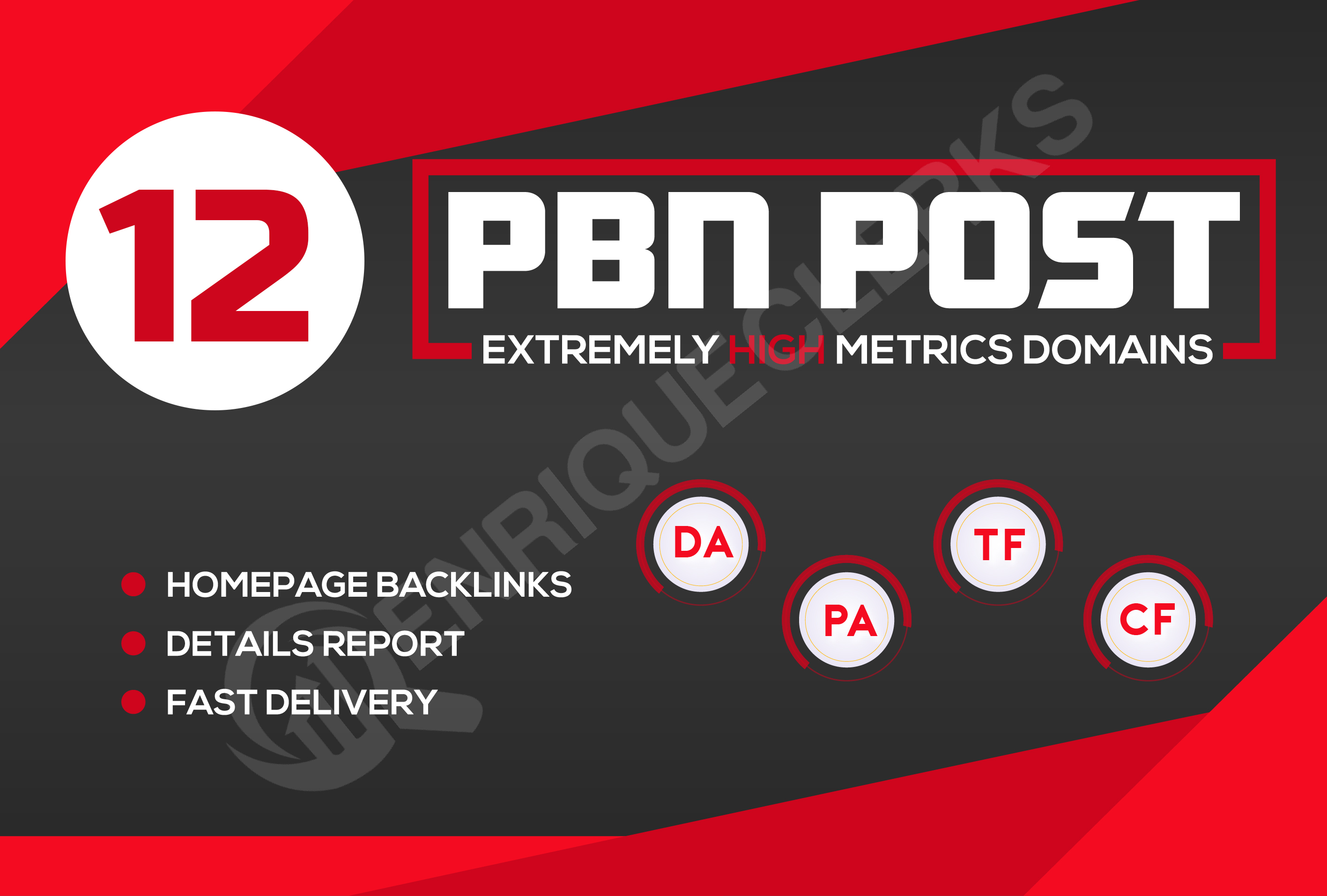 Build 12 High DA PA TF CF PBN Homepage Quality Backlinks