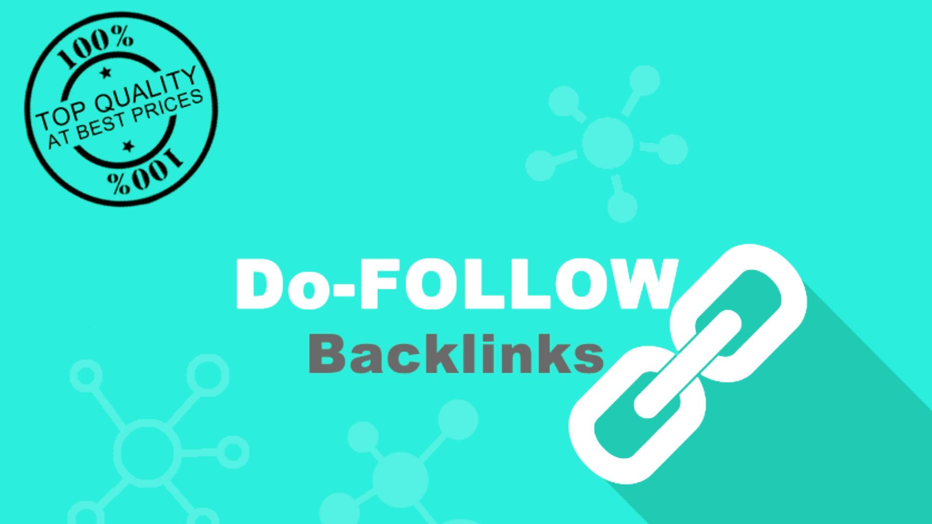 Do 200 High Quality SEO Backlinks,  Dofollow With Anchor Text