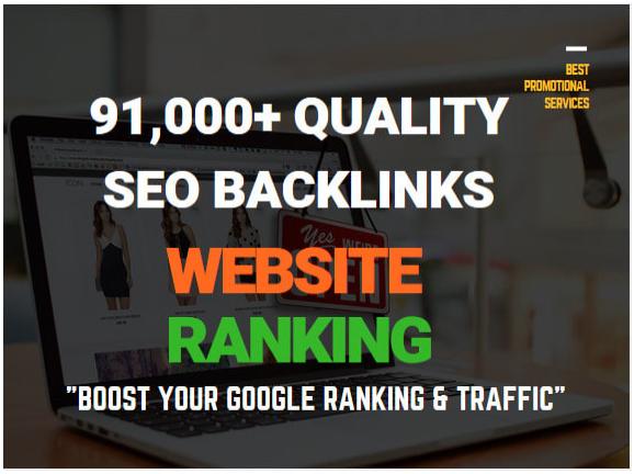 make 91,000 quality seo backlinks for website ranking