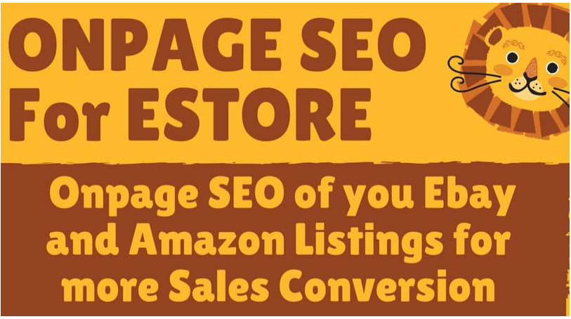 do onpage seo of you ebay and amazon listings for more sales conversion