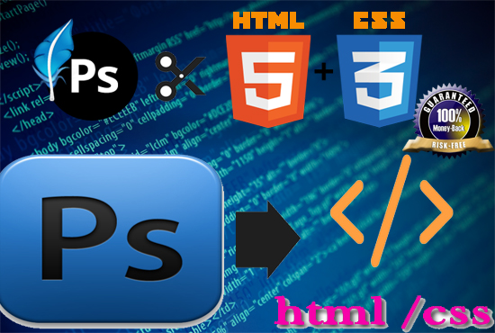 i can do PSD to html