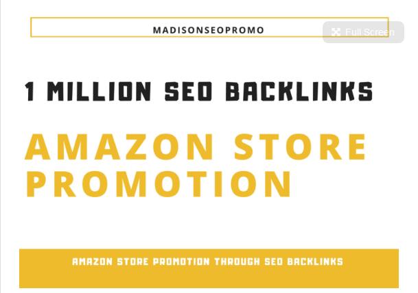 do amazon store promotion through seo backlinks,  online store promotion