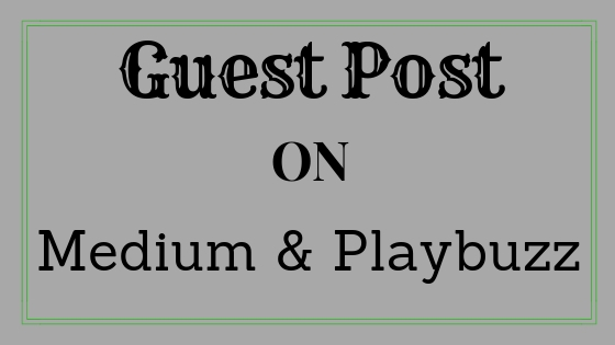 write and publish guest post on medium. com and Playb...