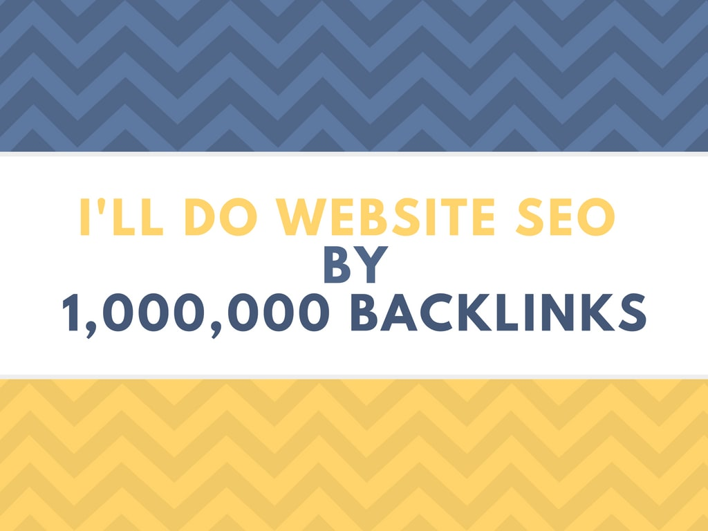 do website SEO by 1m backlinks