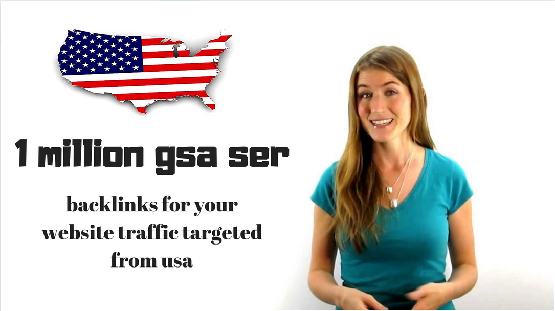 create 1 million gsa ser backlinks for your website traffic targeted from usa