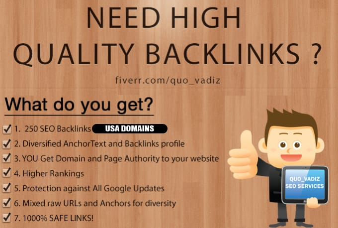 250 high quality backlinks improves SEO in 2019
