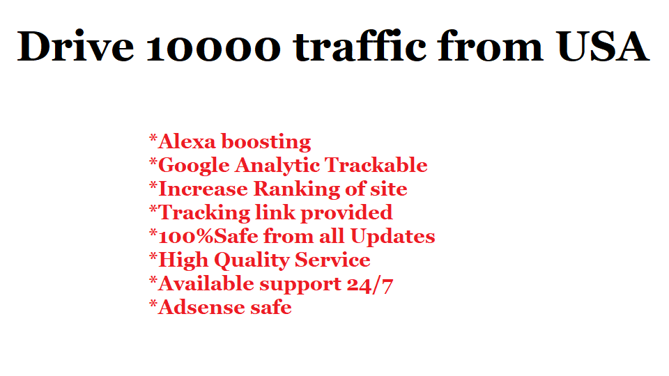 Drive 10,000 Traffic from USA