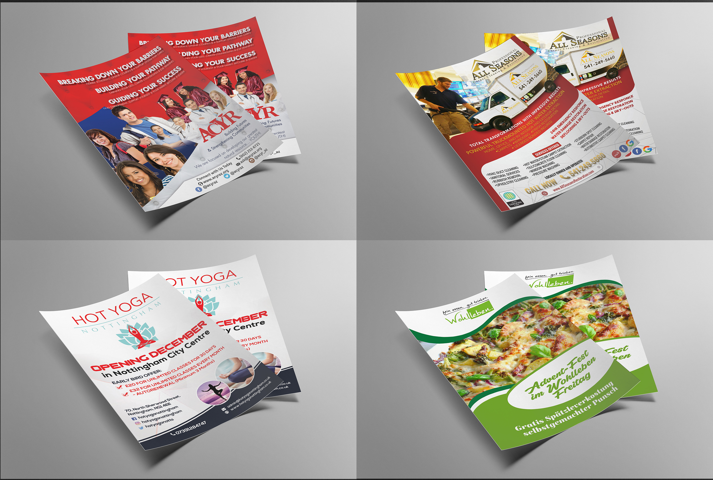 Flyer design,  logo,  banners,  and business cards design
