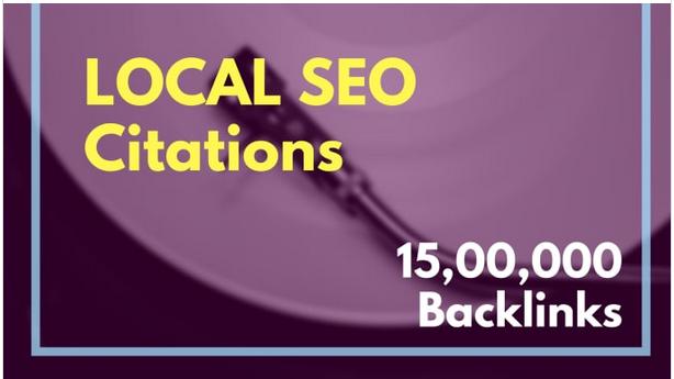 Do local SEO citations by 15,00,000 backlinks