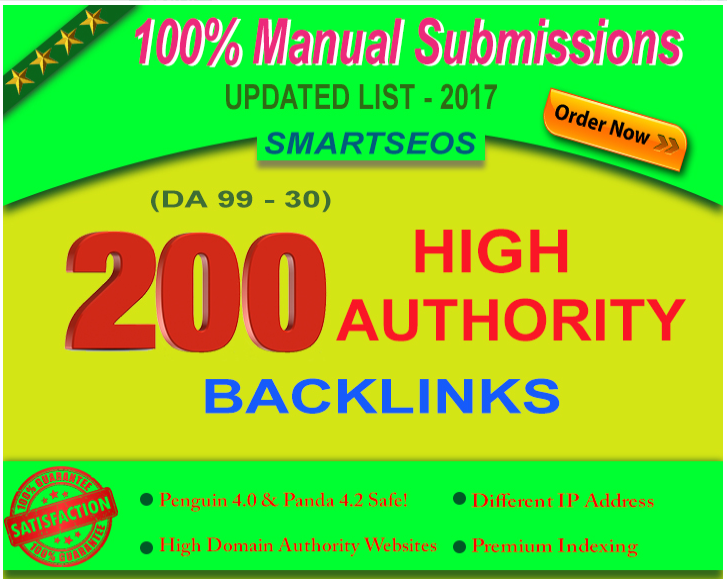 rank your site higher in google with 200 high domain authority seo backlinks