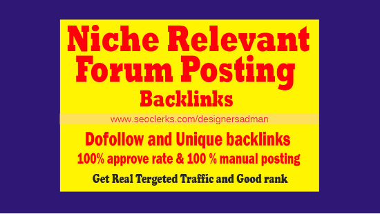 do forum posting niche forum post quality forum backlinks