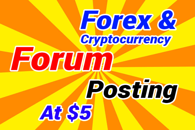 do cryptocurrency or forex forum posting with blockchain ico forum post backlink