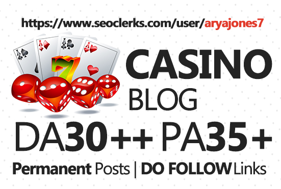 Submit Guest Post in Casino blog for $5