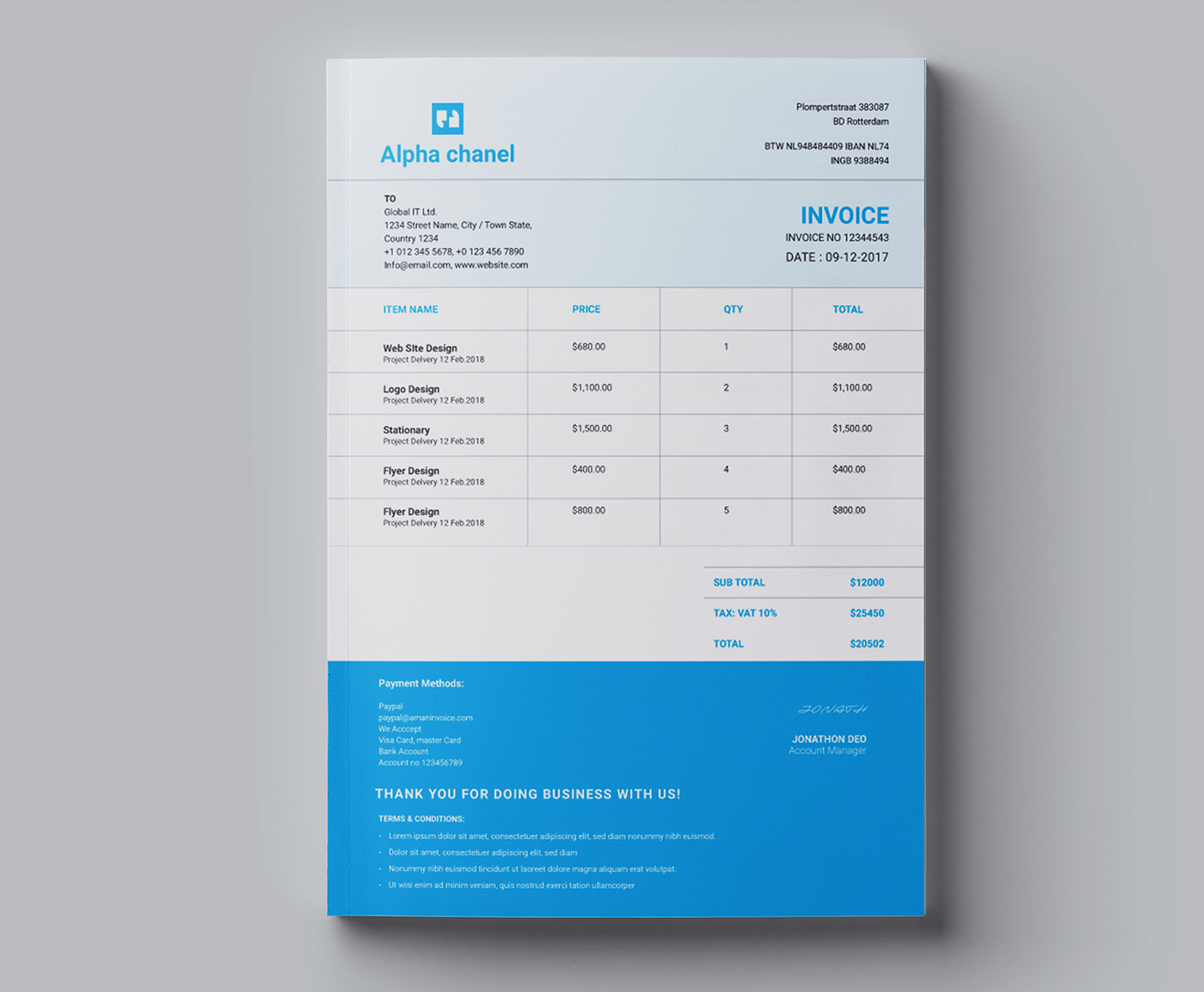 Design Outstanding Invoice