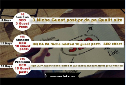 3 niche quality PR guest posts seo rank traffic grow