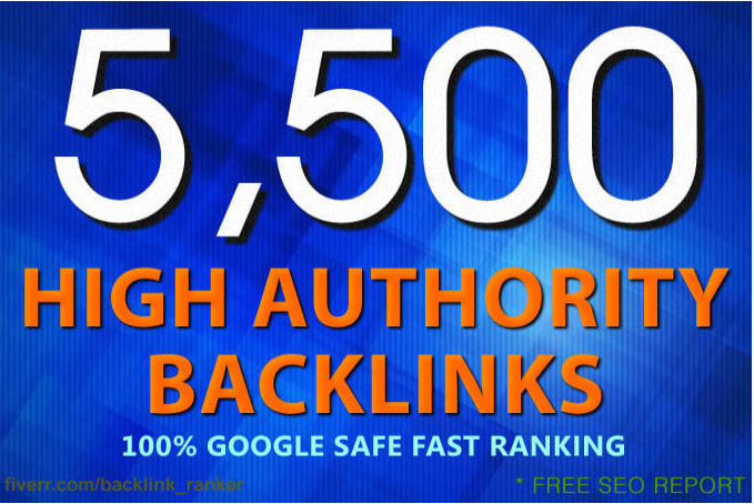 create 5500 SEO backlinks for google ranking