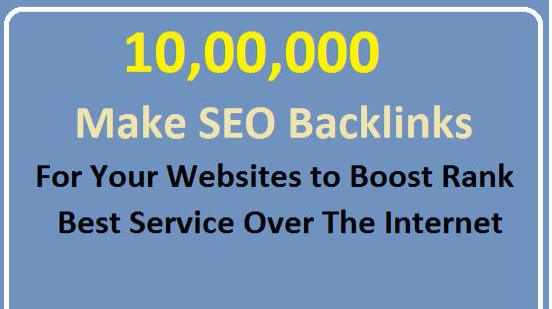 make 10,00,000 SEO backlinks manually promotion
