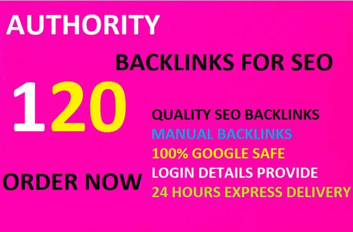 create 120 high authority backlinks,for SEO