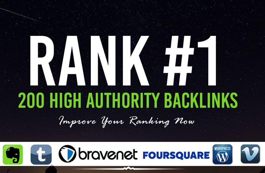 rank your website with 250 authority SEO backlinks