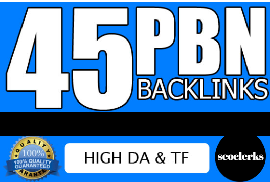 45 pbn seo backlinks high tf da sites