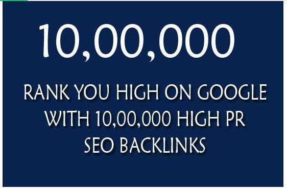 rank you high on google with 110,000 quality SEO backlinks