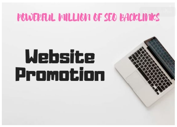 powerful million of SEO backlinks for your website promotion