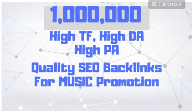 create custom backlinks for your music promotion