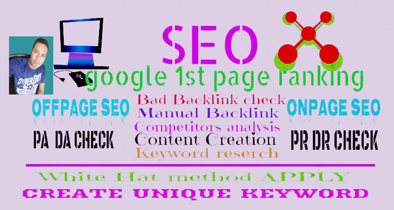Offer Guaranteed Google 1st score of your Domain