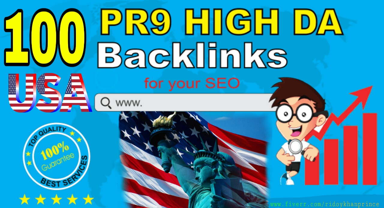 Create 100 Authority Backlinks, SEO Link Building For Your Website