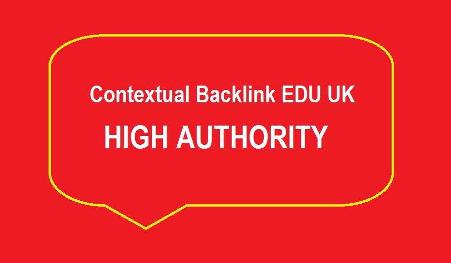 1 Contextual Backlink EDU UK - High Authority
