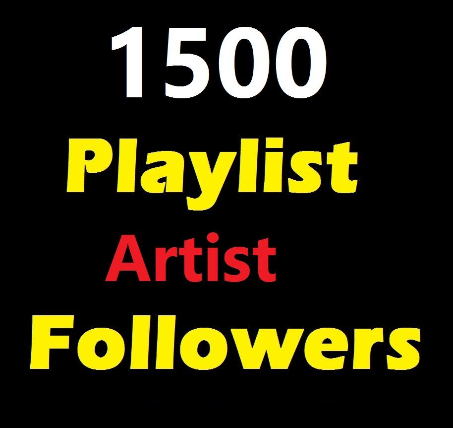 Add 1500 Profile And Playlist Artist followers