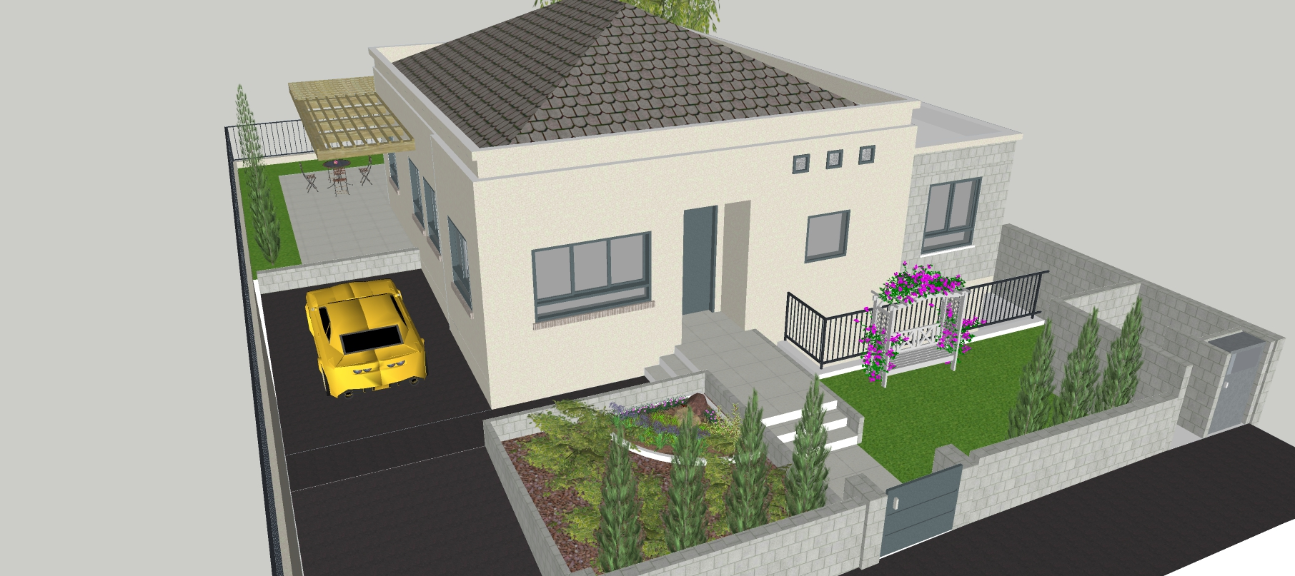 3D Sketchup Model And Render For your home, Garden, Resort Plan