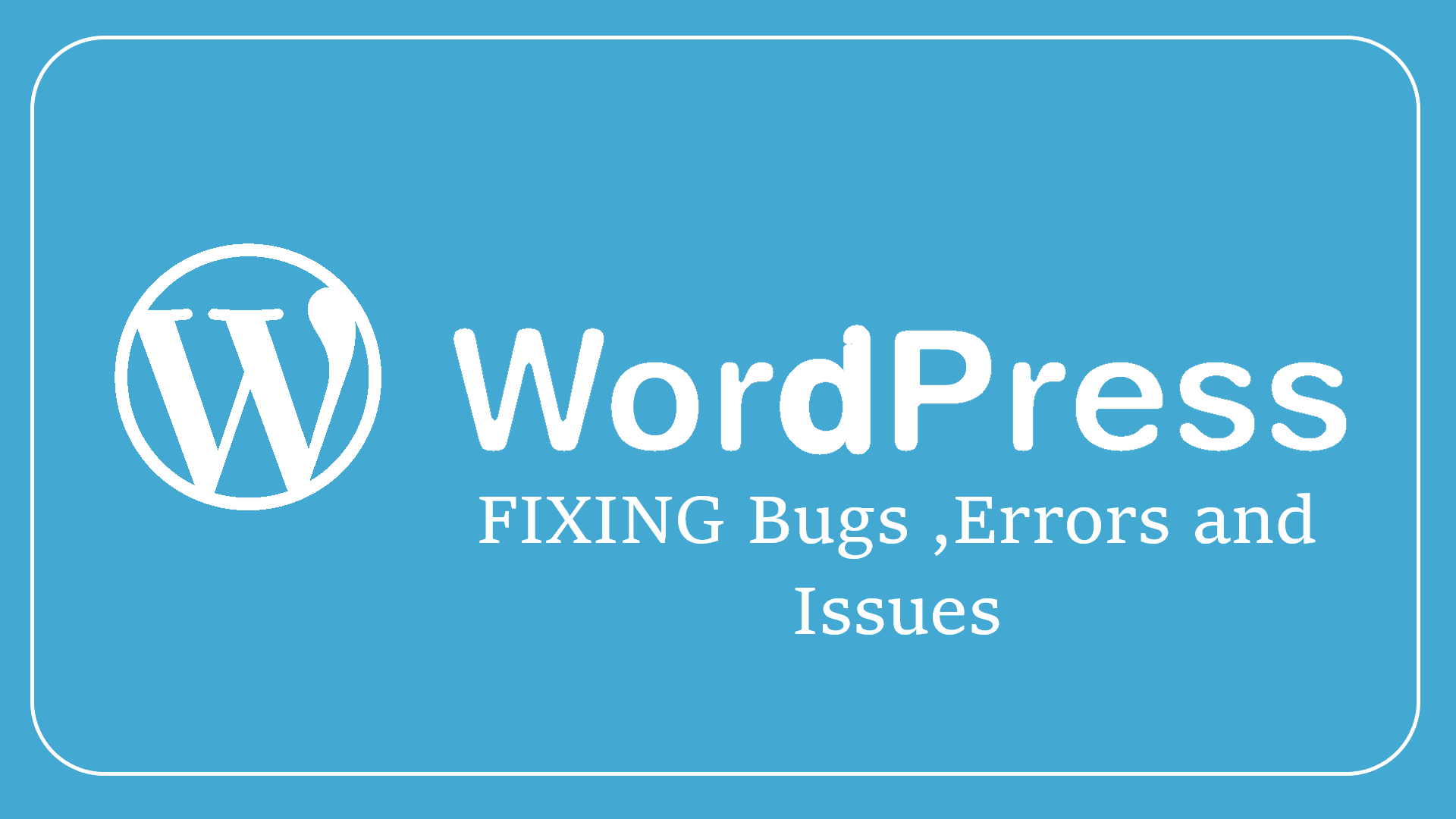 Fix up your wordpress bugs