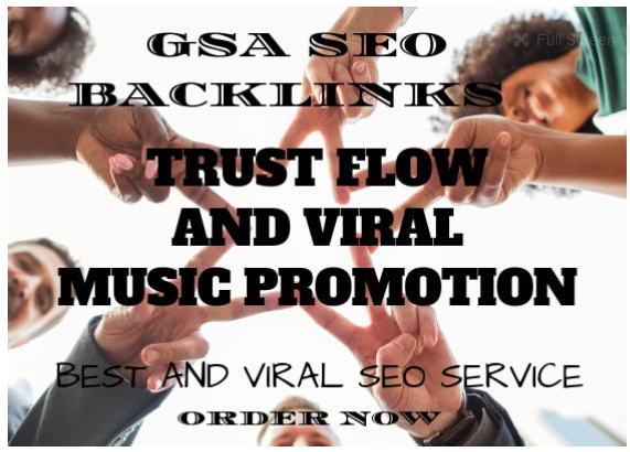 build trust flow and viral music promotion by 1 Million SEO backlinks