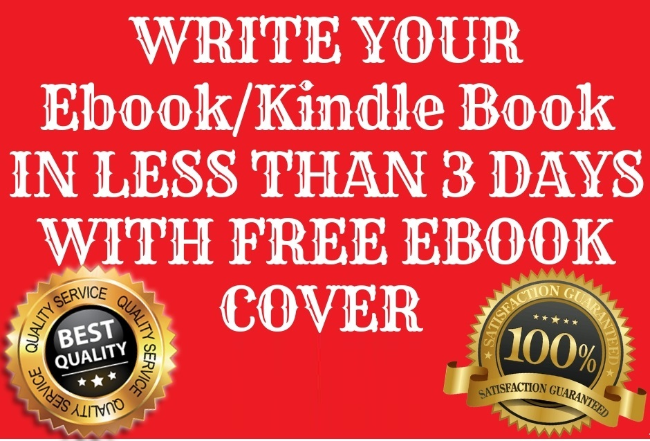ghostwrite your ebook with free cover in 3 days for low cost