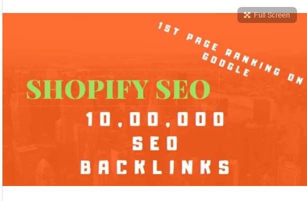 build shopify SEO for 1st page ranking promotion on google