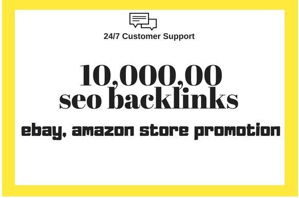 Ebay,  amazon store promotion for better sales by 10, 00,000 SEO backlinks