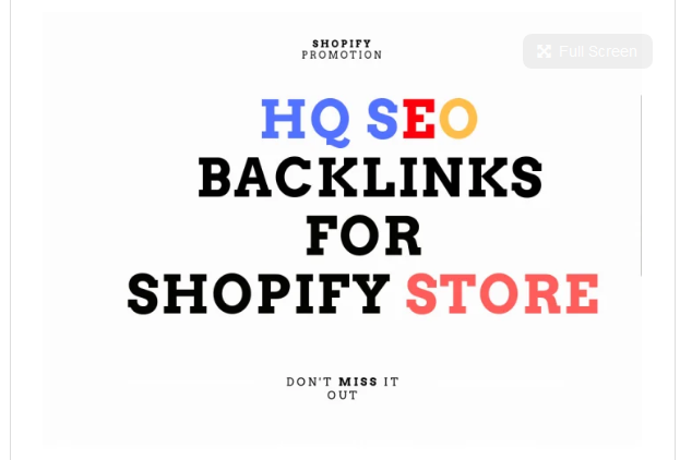 boost shopify store SEO with high da backlinks