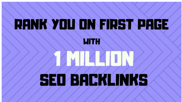 Make 1,000,000 high quality doffolow backlinks for your website