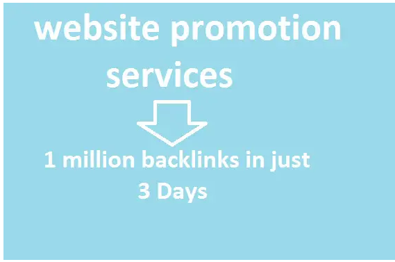 Provide 1 million offpage backlinks for website promotion