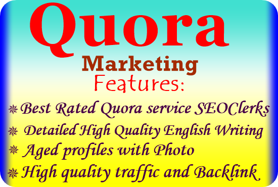 Guaranteed Targeted traffic with 50 high quality Quora Answers
