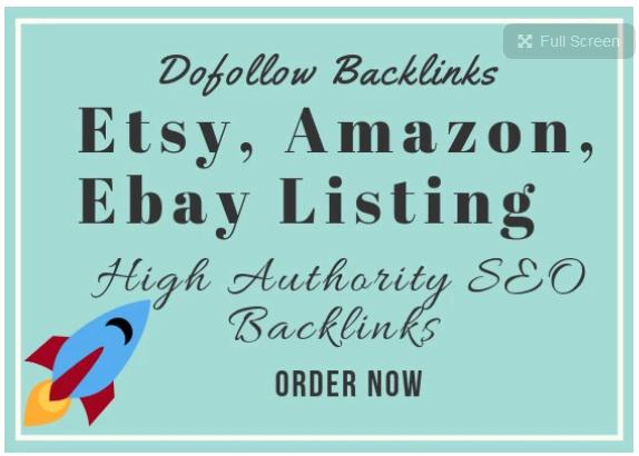 promote your etsy, amazon, ebay listing using SEO