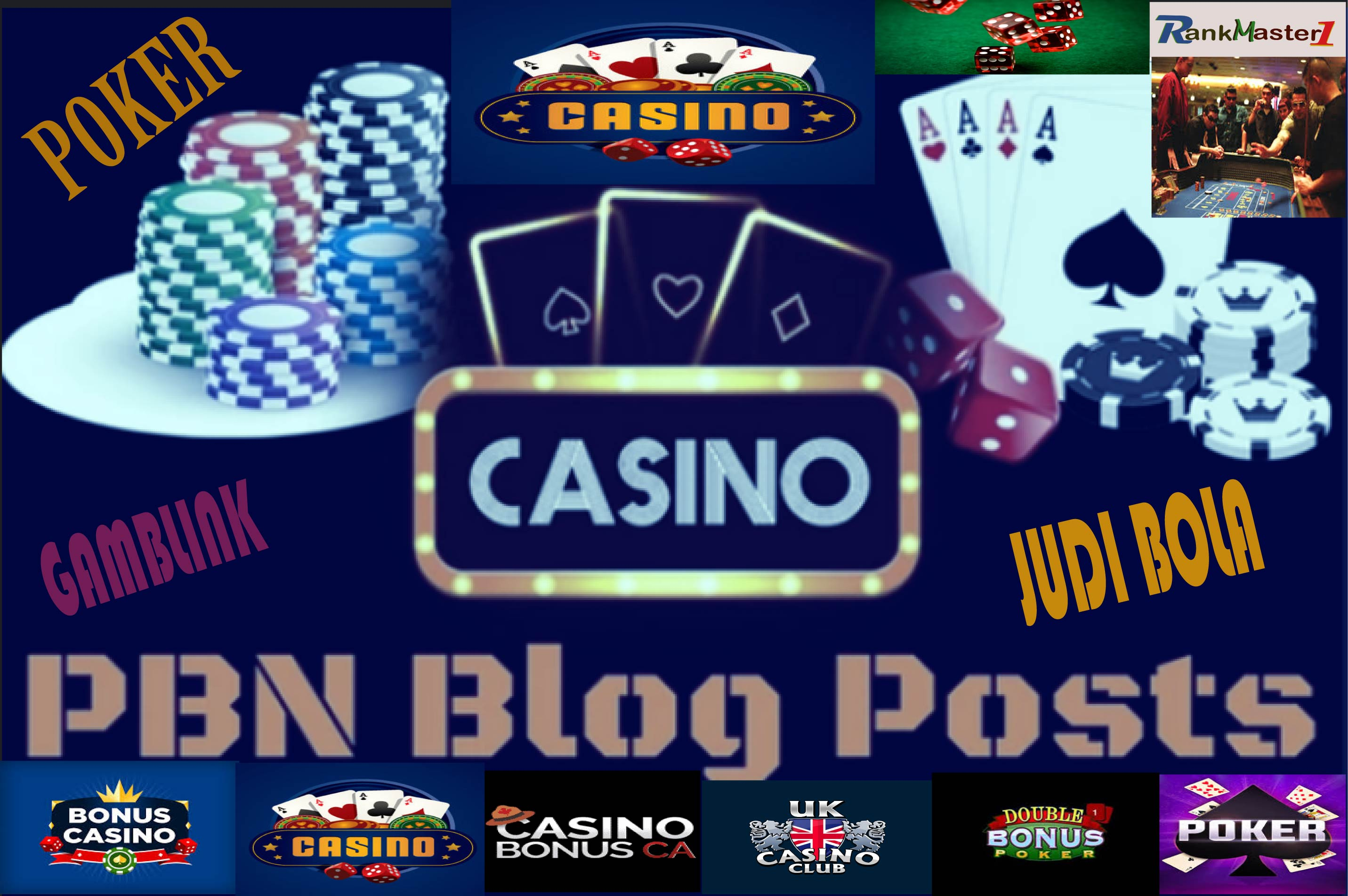 50 PBNs Blogpost From Casino,  Gambling,  Poker,  Judi Related High DA Blogger Blog Post Increase Google Ranking And Index Free