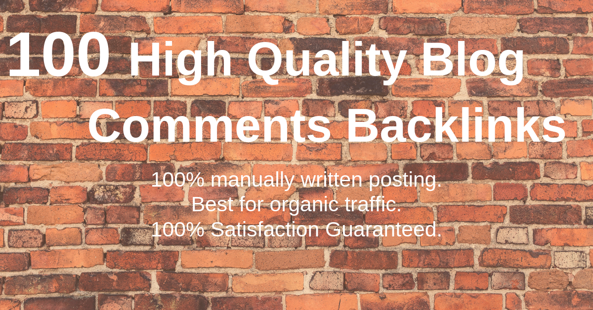 Provide 100 High Quality Blog Comments Backlinks On High Da Pa