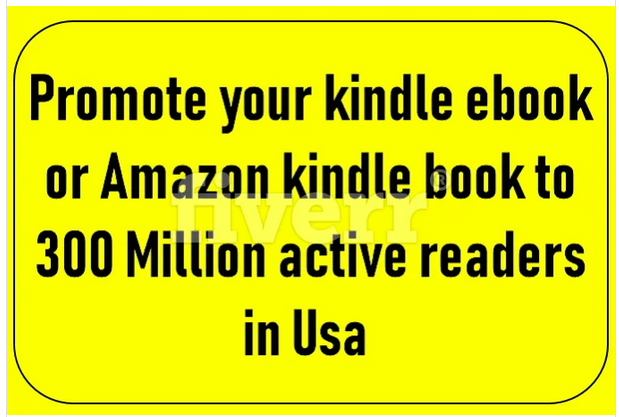 promote your kindle ebook or amazon book