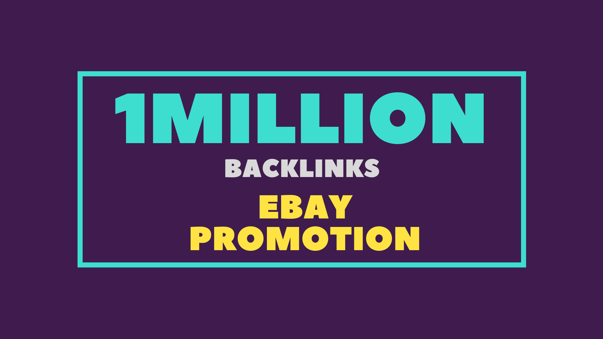 Promote your ebay store with 1 million dofollow gsa SEO backlinks