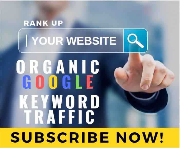 Organic Google Keyword Ranking Website Traffic Monthly Service - Until you Rank Up!