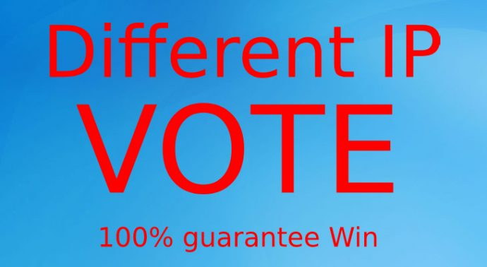 Get Amazing 200 Different IP's Online votes